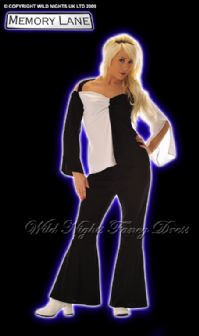 WILD NIGHTS 60s/70s STYLE RETRO FLARES SET MED 12-14